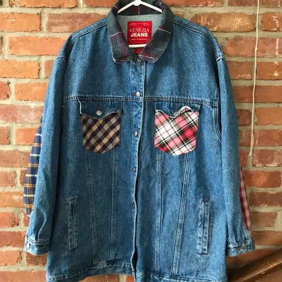 Jean and Plaid Jacket 22/24 (it's quite big)